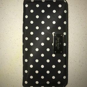 Kate Spade Black & White Polka Dot Neda Wallet
